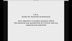 FTH - S P A - Studio for Potential Architecture