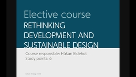Design - Rethinking Development and Sustainable Design