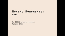 ARK-UL - OCCAS - Moving Monuments - Rome