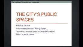 Thumbnail for entry UL - City Public Spaces
