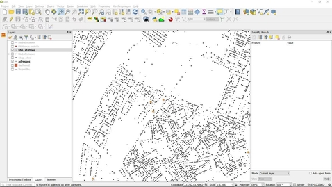 QGIS Proximity, Service areas, districting