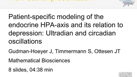 Patient-specific modeling of the nueroendocrine HPA-axis related to depression (Audioslides)