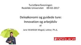 Deleøkonomi og guidede ture: Innovation og arbejdsliv