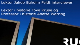 Thumbnail for entry  Fortider tur/retur Reenactment og historiebrug - Interview med Anette Warring og Tove Kruse