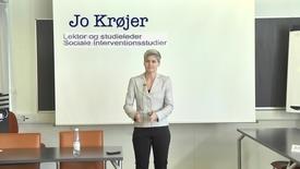 Lektor og studieleder Jo Krøjer, Sociale Interventionsstudier om Klyngevejledning