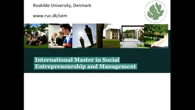 Professor Lars Hulgaard and Professor Roger Spear: Introduction to MA in Social Entrepreneuship and Management
