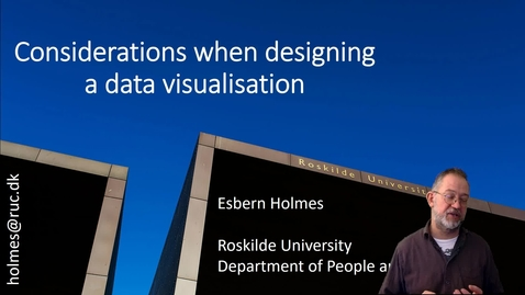 Considerations when designing a data visualisation