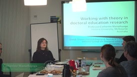 Open seminar on doctoral education and supervision with Catherine Manathunga