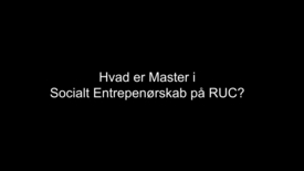 Master i Socialt Entreprenørskab på RUC