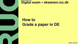 How to grade a paper in DE