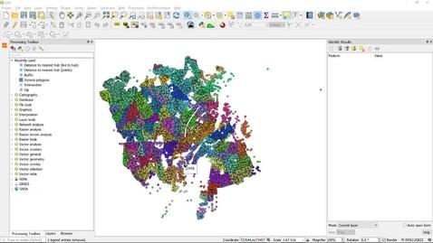 QGIS distance to nearest hub vs buffer and clip