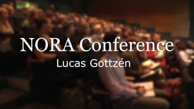 Thumbnail for entry Lucas Gottzén at NORA Conference, RUC 2014