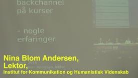 Nina Blom; Pædagogisk Torsdag: Teknologier, der understøtter læring i undervisning og vejledning.