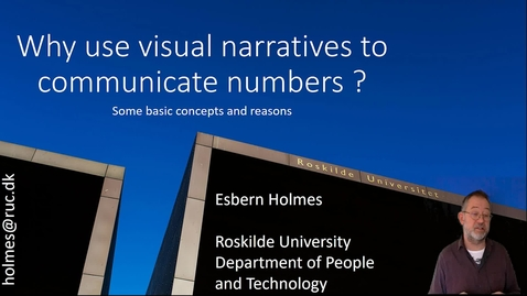 Why use visual narratives to communicate numbers ?