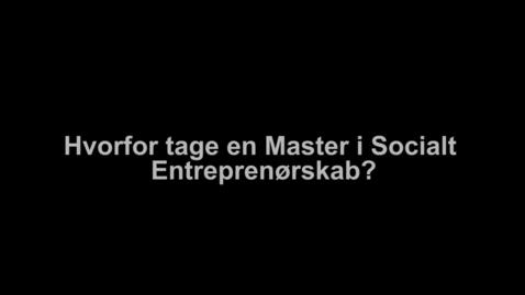 Interview med Marie-Louise Harritsø om Master i Socialt Entreprenørskab