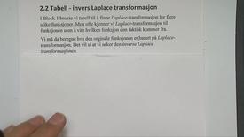 Kapittel 22 2.2 Tabell - invers Laplace transformasjon