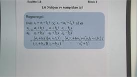 Thumbnail for entry Kapittel 11 1.6 Divisjon av komplekse tall