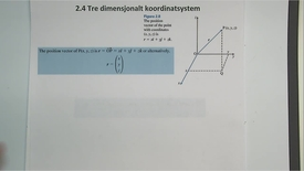 Thumbnail for entry Kapittel 14 2.4 Vektorer i tre-dimensjonalt koordinatsystem