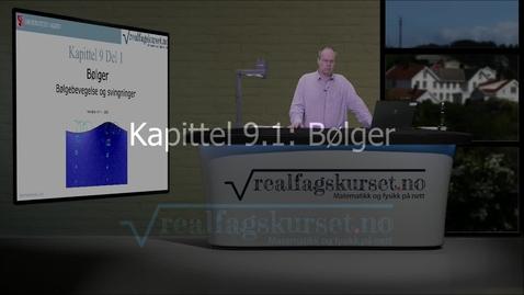 Thumbnail for entry Kapittel 9.1: Bølger