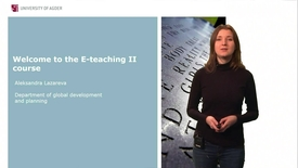 Welcome to E-teaching II