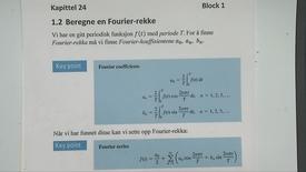 Kapittel 24 1.2 Beregne en Fourier-rekke