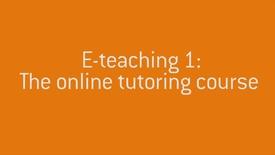 01 Welcome to E-teaching 1