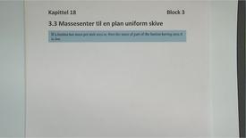 Thumbnail for entry Kapittel 18 3.3 Massesenter til en uniform flate