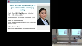 Thumbnail for entry Disputas-Vimala Nunavath Trial Lecture - 10/30/2017