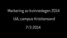 Thumbnail for entry Kvinnedagen_Kristiansand_2014