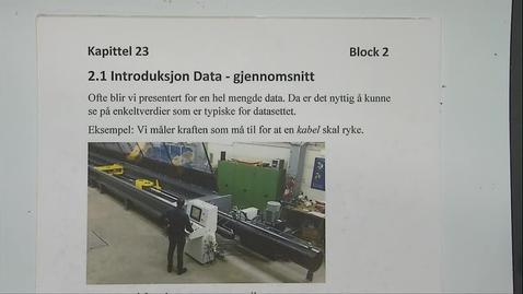 Thumbnail for entry Kapittel 23 2.1 Introduksjon data - gjennomsnitt