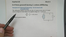 Kapittel 20 6.4-2 Finne generell løsning til 2.ordens difflikning - eksempler 1