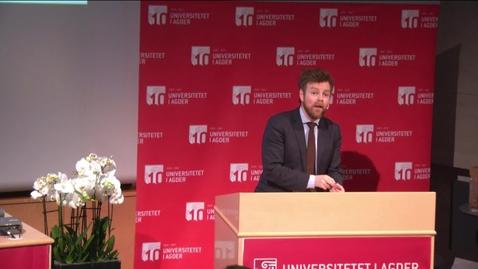 Thumbnail for entry Statsråd Torbjørn Røe Isaksen legger frem Kvalitetsmeldingen