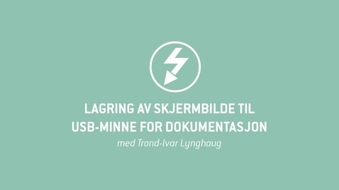 Thumbnail for entry Oscilloskop 13 - Lagring av skjermbilde til USB-minne for dokumentasjon