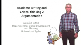 Academic writing and Critical thinking 2 - Argumentation