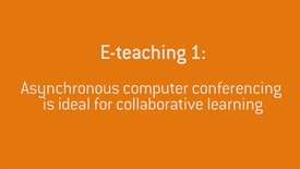 Thumbnail for entry 04 Asynchronous computer conferencing