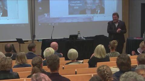 Thumbnail for entry Lilletun forelesning - Kristin Halvorsen kommenterer opponentene