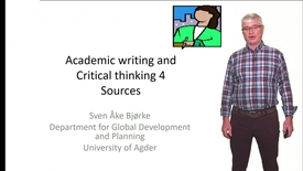 Academic writing and Critical thinking 4 - Sources