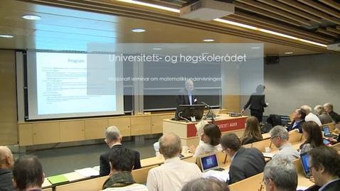 Thumbnail for entry Nasjonalt seminar om matematikkundervisning - del 1 - 45min.