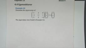 Kapittel 13 4.4-1 Egenvektor - eksempel 2