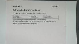 Kapittel 12 5.3 Matrise transformasjoner