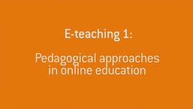 06 Pedagogical approaches in online education