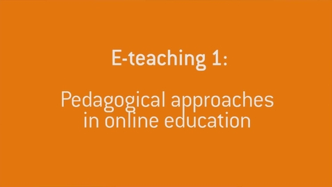 Thumbnail for entry 06 Pedagogical approaches in online education