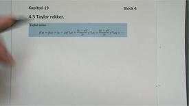 Thumbnail for entry Kapittel 19 4.3 Taylor rekker