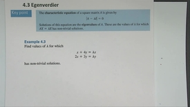 Thumbnail for entry Kapittel 13 4.3-1 Egenverdier - eksempler