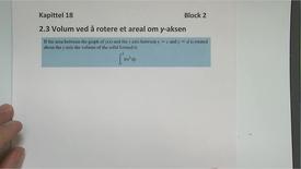 Thumbnail for entry Kapittel 18 2.3 Volum - dreie om y-aksen
