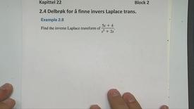 Kapittel 22 2.2-5 Invers Laplace transformasjon eksempel 2.8 - 2.10