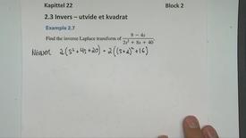Thumbnail for entry Kapittel 22 2.2-4 Invers - utvide et kvadrat eksempel 2.7