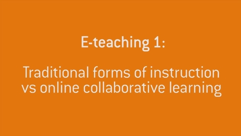 Thumbnail for entry 02 Traditional vs online learning
