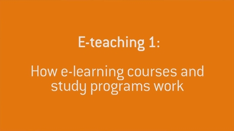 Thumbnail for entry 03 How E-learning works