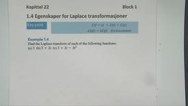 Kapittel 22 1.4 Egenskaper for transformasjoner